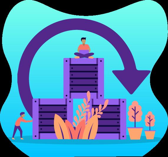 icono respaldo y reestructuración de datos